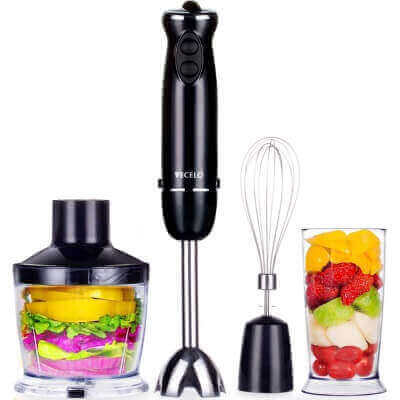 VECELO A239 Immersion Hand Blender Set With Food Processor